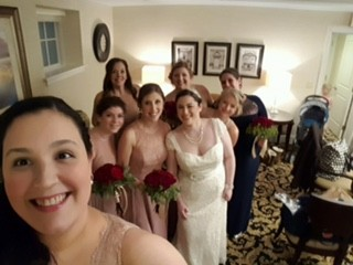 Erin with her bridesmaids. These ladies are all so special to her.