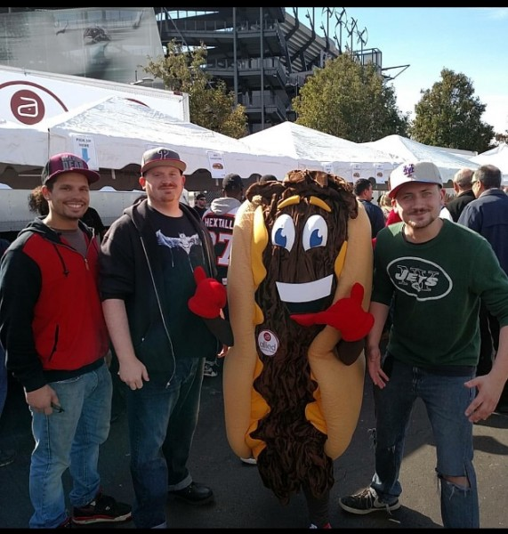 Andrew with his friends at cheese steak festival! It's an annual tradition.