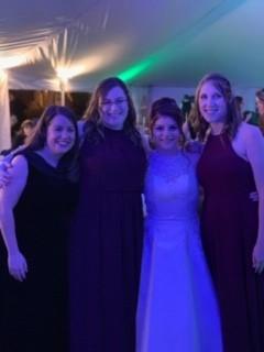 Erin's best girl friends at a wedding.