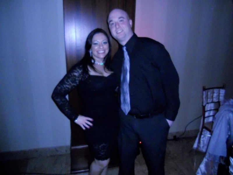 Mike with his sister at a cousins wedding