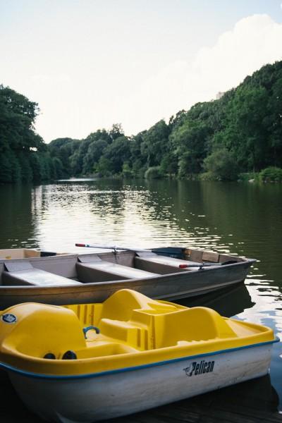 Paddle boats at the lake