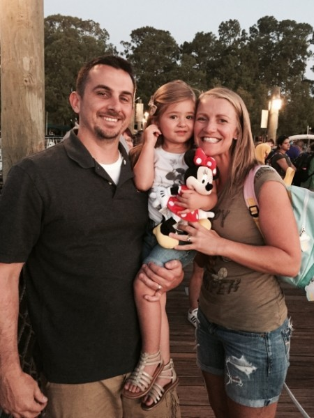 Family photo after fun at Disney (Minnie is with us, of course!)