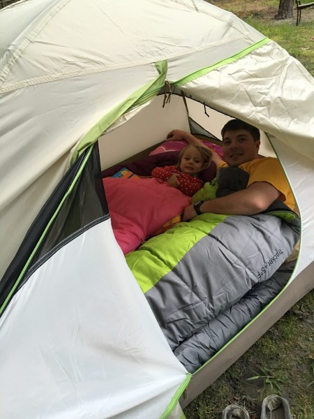 First Backyard Camp with Daddy