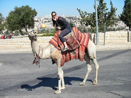 Lauren on a camel!