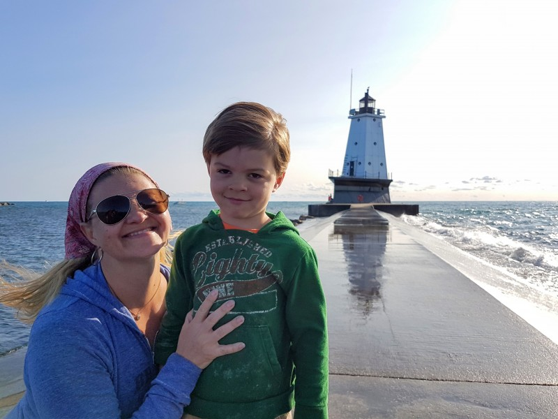Checking out the lighthouses to Michigan