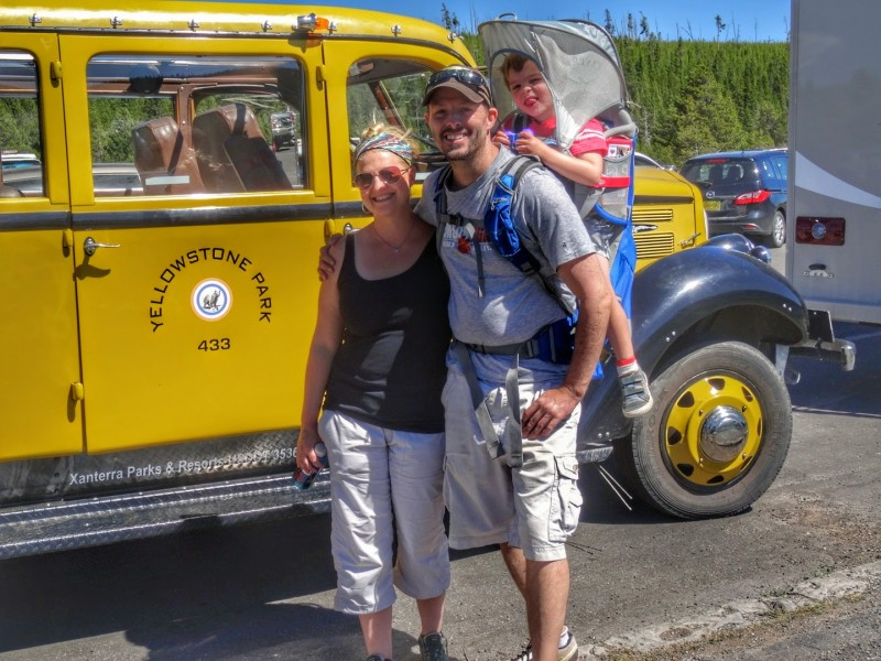 Family time in Yellowstone National Park