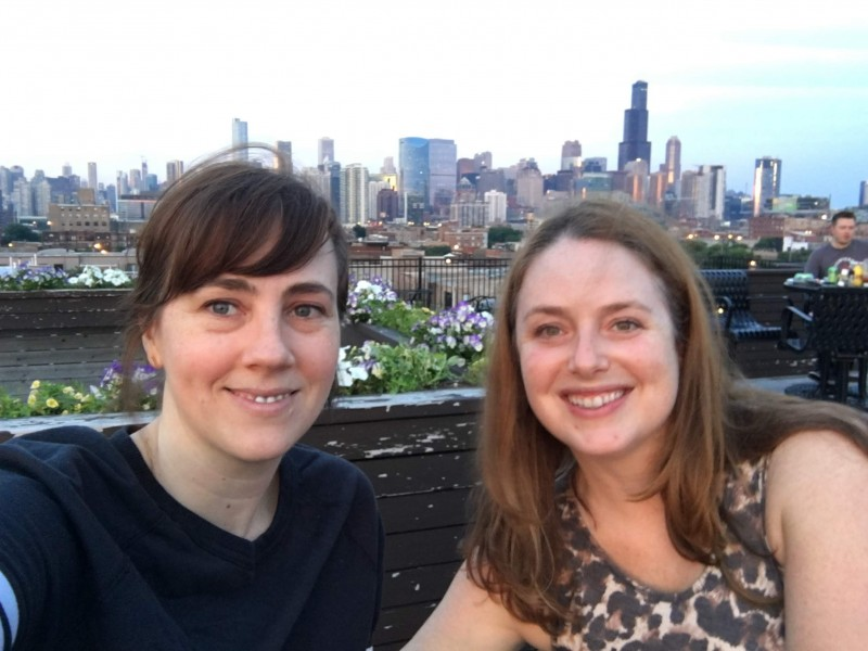 Sarah visited her friend Kelly in Chicago