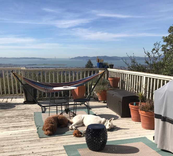The view of the Bay Area from our deck