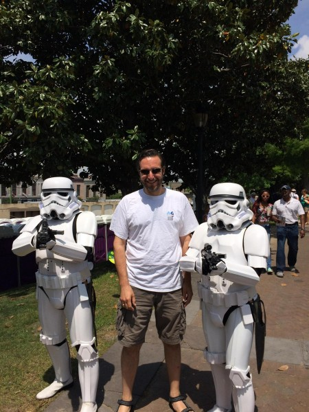 Wayne and storm troopers