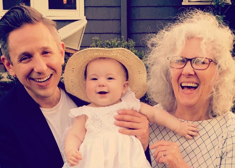 Joe F and Grandma F loving on Margot