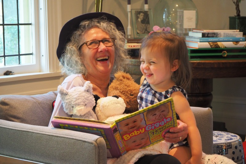 Reading to Grandma