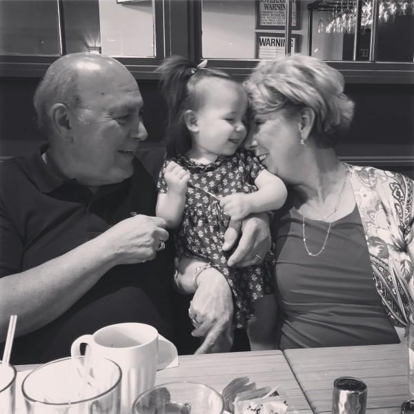 Celebrating Nonna's birthday.