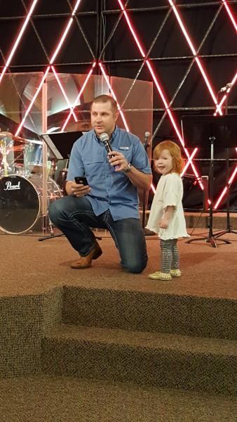 Chet and Hannah at church