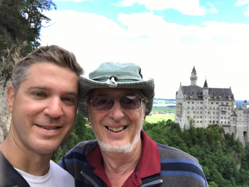 Frank and dad in Germany