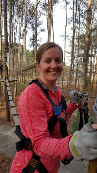 Zip lining at our local Adventure Park.