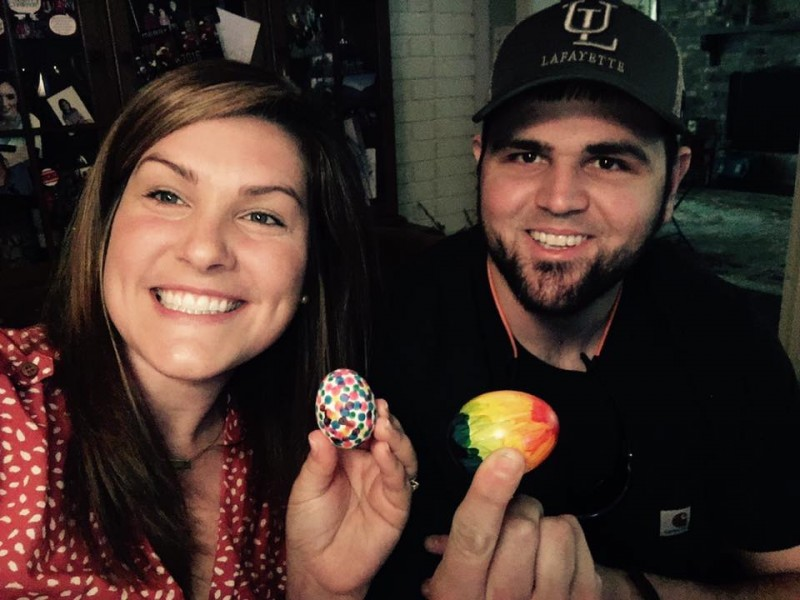 Easter egg dying tradition