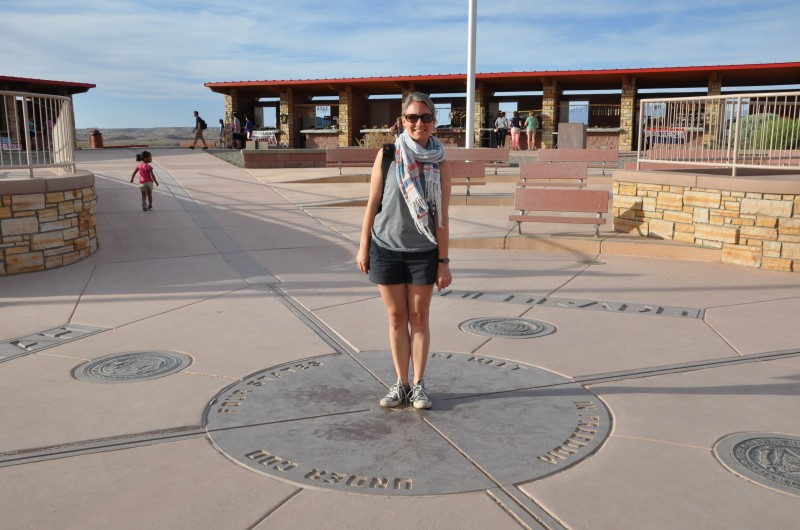 Jess standing at the Four Corners