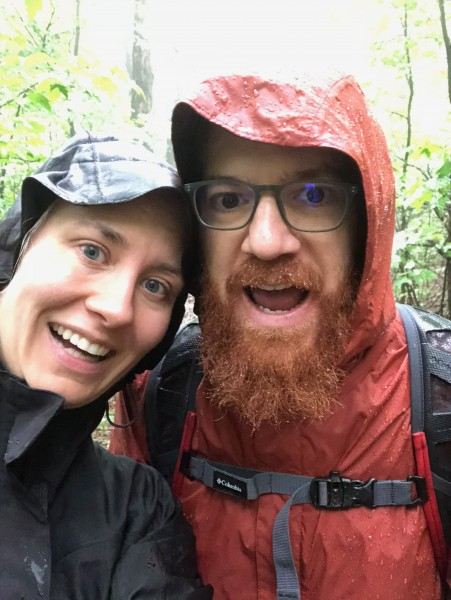 Hiking in the rain in the Shenandoah National Park