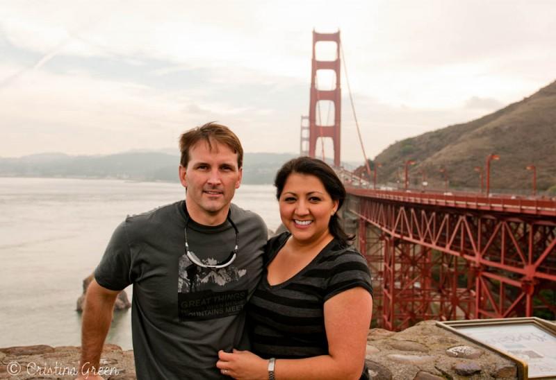 Egan and Cristina at the Golden Gate Bridge in San Francisco
