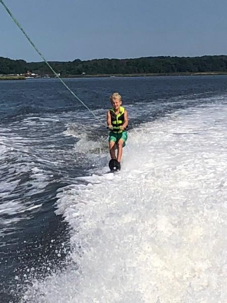 Lucas waterskiing