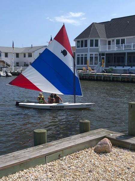Vic & Tyler sailing