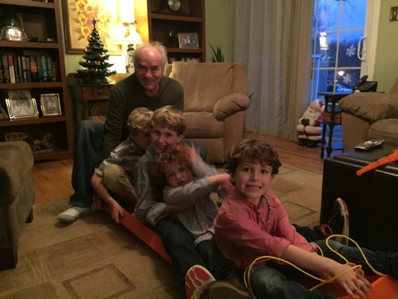Pop pop Christmas Eve