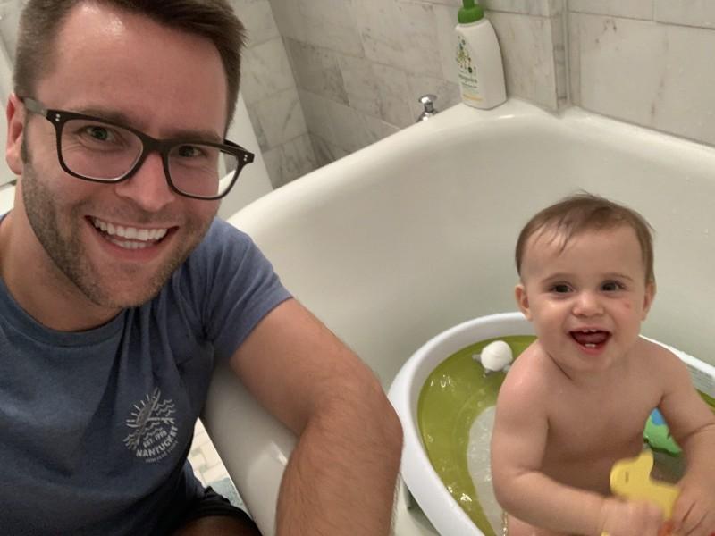 Jack LOVES bath time!