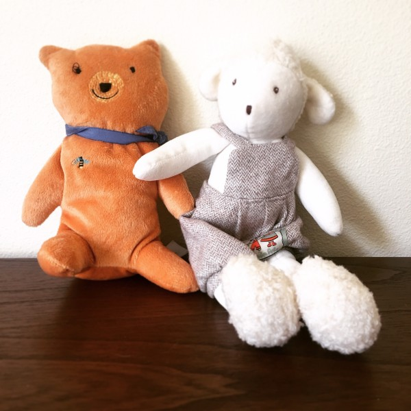 A little bear and a little lamb for our future little one.