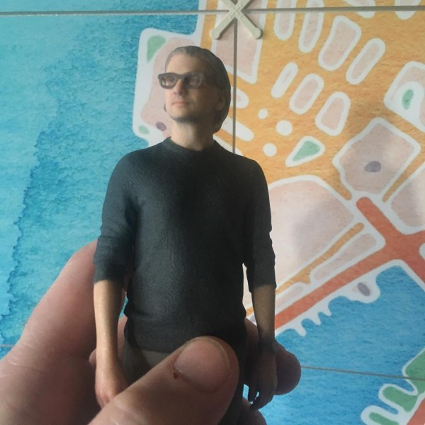At Alan's work they made 3D models of everybody instead of the usual staff photos.