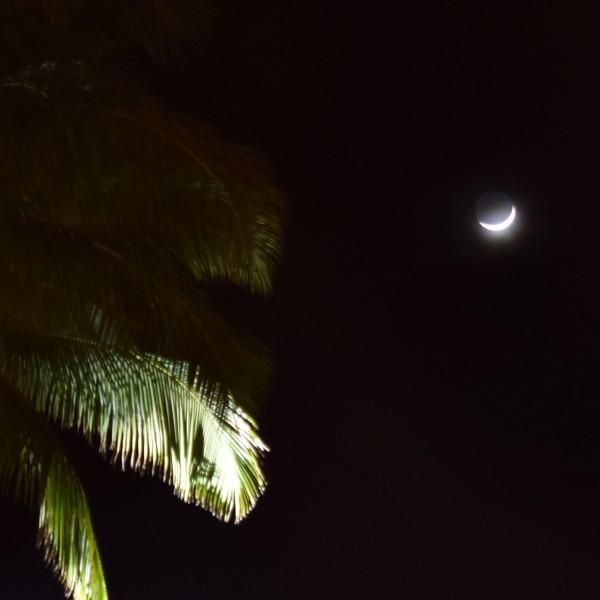 """Nov 2018. Crescent Mahina (""""moon"""") in Kona, Hawaii."""
