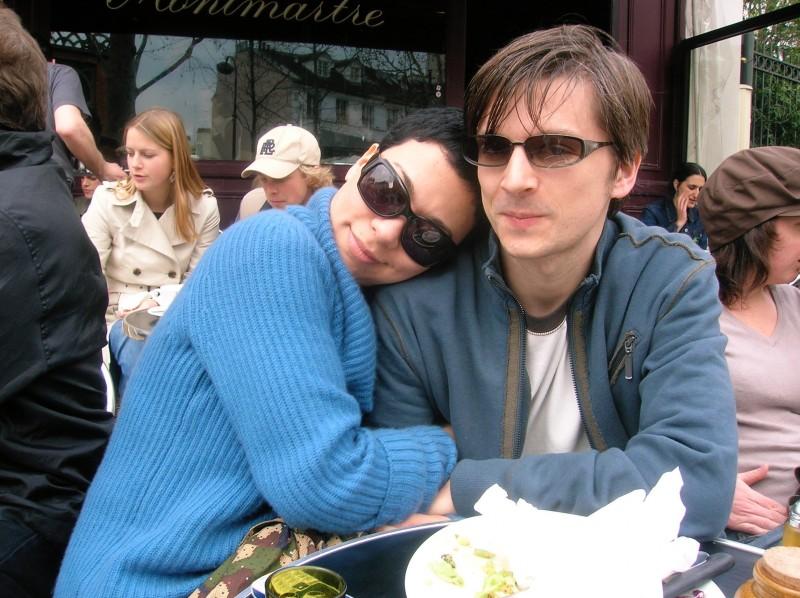 2005 at a Paris café