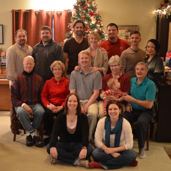Christmas 2012. Alan's family.
