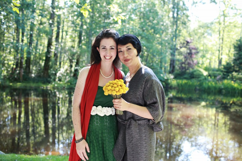 Wedding 2010. Kristina with her best childhood friend Marnie