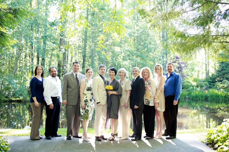 Wedding 2010. Alan's family.