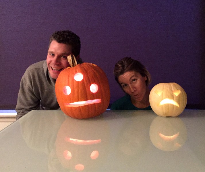 Posing with our pumpkins