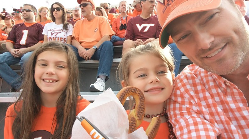 Nieces at VT football game