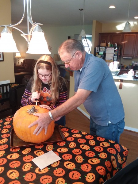 Pumpkin Carving with Poppy!