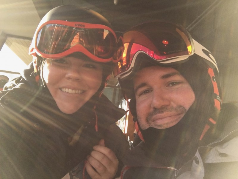 Brian and steph - skiing