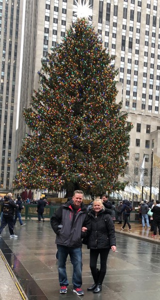 Joe and Mom at Rockefeller Center