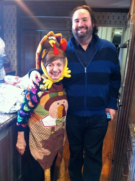 Aunt Rita in her annual Turkey outfit