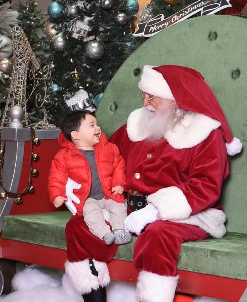Christian and Santa