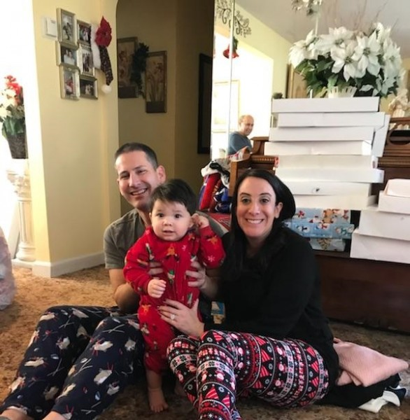 Christian's first Christmas morning