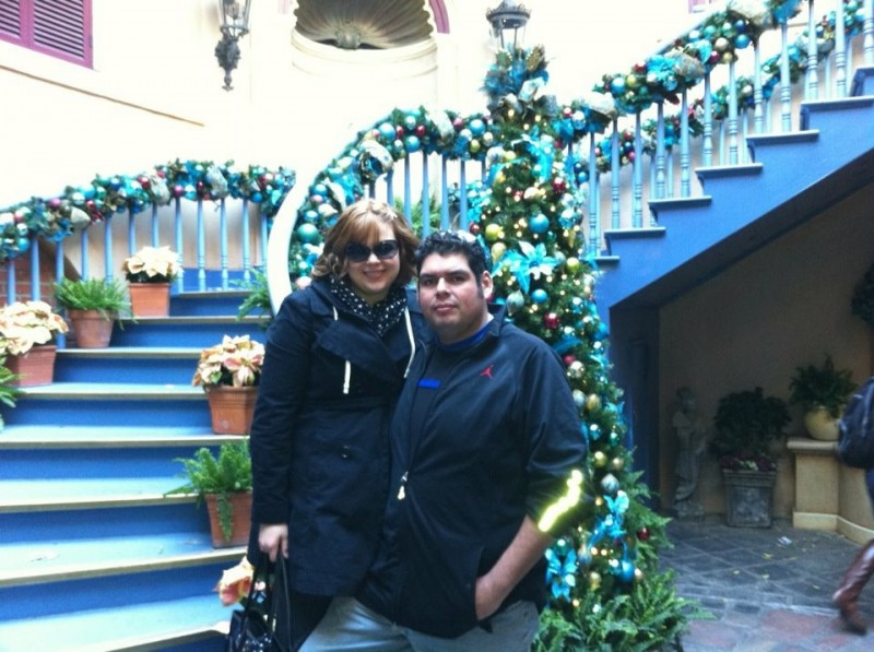Our first time at Disneyland together in December 2011.