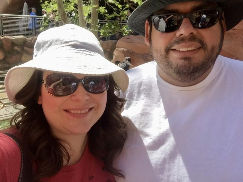 Waiting in line at Radiator Springs Racers at Disneyland California Adventure