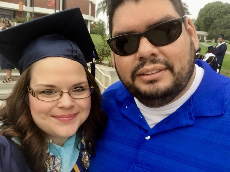 Stacey's graduation with her Master's Degree in Counseling