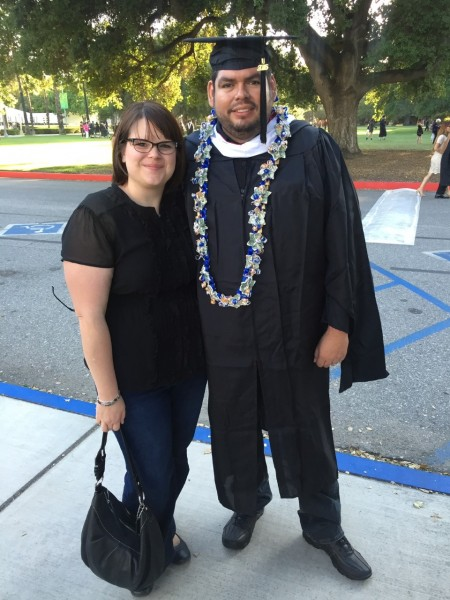 Marcos' graduation with his Master's of Arts in Management.
