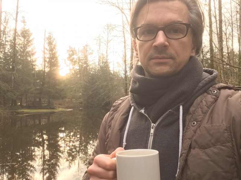 Morning walk with coffee in our woods is a beautiful way to start the day!