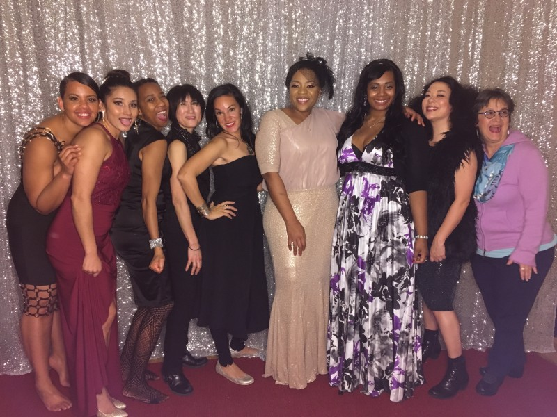 Some of the women of color at the MLK ball including Kristina