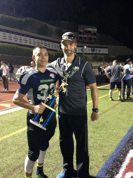 Coach Ryan and one of his players
