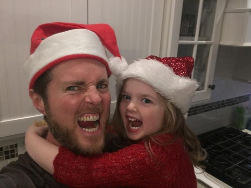 Dad and melina christmas eve